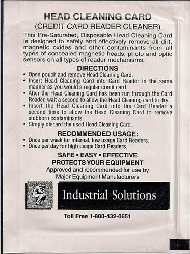 Double sided Cleaning Cards 50/bx